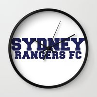 college Wall Clocks featuring College - Blue by Sydney Rangers FC