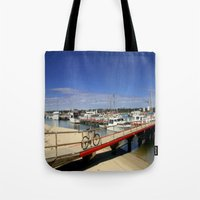 bicycle Tote Bags featuring Bicycle  by Chris' Landscape Images & Designs