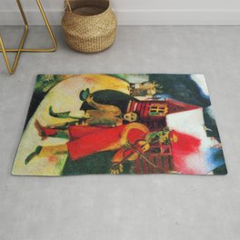 Marc Chagall The Violinist Rug