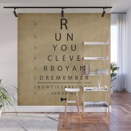Run You Clever Boy - Doctor Who Inspired Vintage Eye Chart Wall Mural