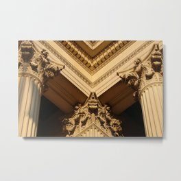 Architecture Aglow Metal Print