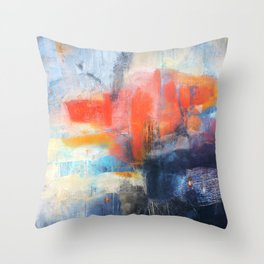 Abstract Red Blue Art  Throw Pillow