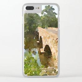Watercolor - Brugler Rd Bridge Clear iPhone Case