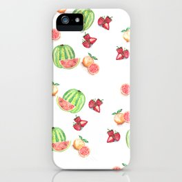 Three Fruit Combo Pattern iPhone Case