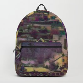 Rustic winter scene A Backpack