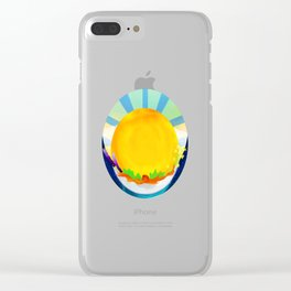 Wheel Series : Summer Solstice Medallion Clear iPhone Case