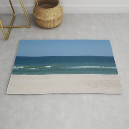 three colors of the summer sea beach Rug