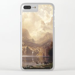 Bierstadt Among the Sierra Nevada Mountains Clear iPhone Case