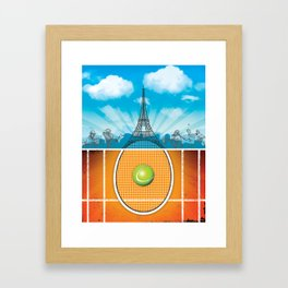 Paris Tennis Framed Art Print