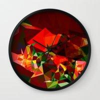 polygon Wall Clocks featuring polygon chaos by Matthias Hennig
