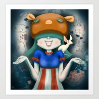 beastie boys Art Prints featuring Beastie  by Murka