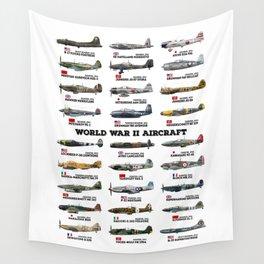 World War II Aircraft Wall Tapestry