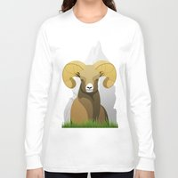 ram Long Sleeve T-shirts featuring Ram by Porto881