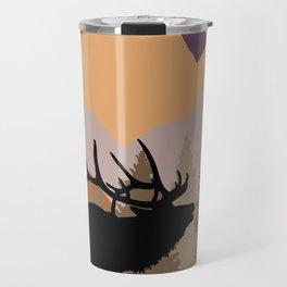 Mountain Caribou Scene Travel Mug