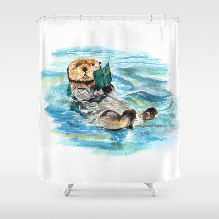 Otter Shower Curtain By Annashell