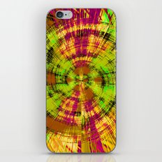 vintage psychedelic abstract pattern in green pink brown yellow iPhone & iPod Skin