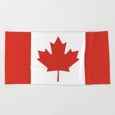 Flag of Canada Beach Towel