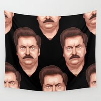 swanson Wall Tapestries featuring Swanson by Skeleton Jack
