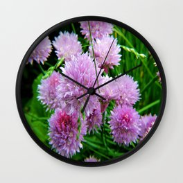 Chive Flower Clusters Wall Clock