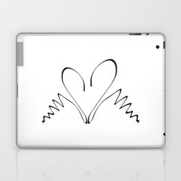 Two swans hand drawn minimalist print Laptop & iPad Skin