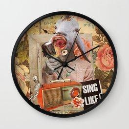 Sing Like A B1tch Wall Clock