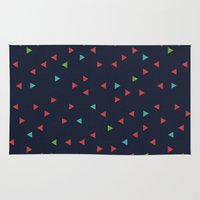 snowboarding Area & Throw Rugs featuring TRY ANGLES / snowboarding by DANIEL COULMANN