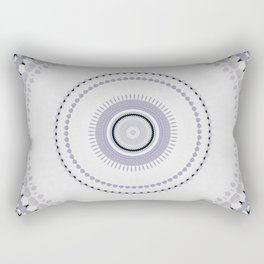 White and light Purple simple Mandala Design Rectangular Pillow