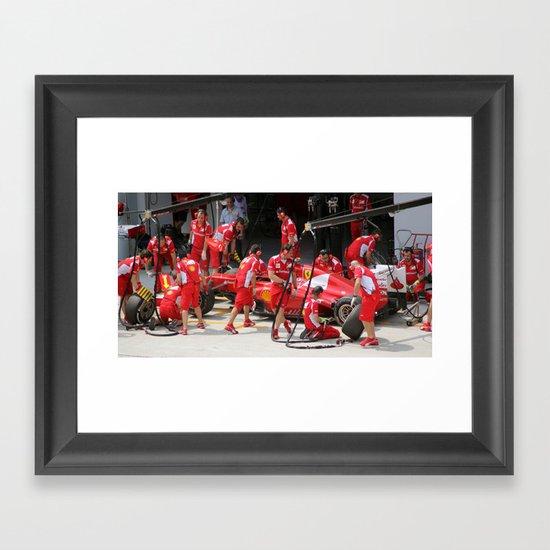 Team Work. Framed Art Print