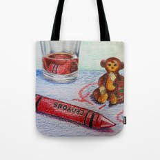 Crayon Love My Monkey is up to Something Tote Bag