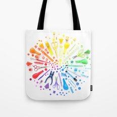 Rainbow Explosion Tote Bag