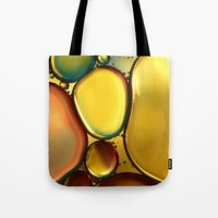 oil Tote Bags featuring Oil & Water Abstract II by Sharon Johnstone