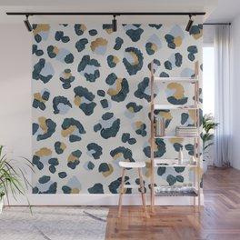 Snow Leopard Print Wall Mural