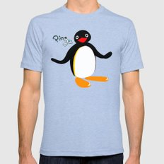 Pingu Mens Fitted Tee Tri-Blue MEDIUM