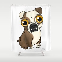 English Bulldog Dog Shower Curtain