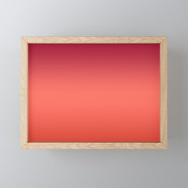 Living Coral Fiesta Jester Red Gradient Ombre Pattern Framed Mini Art Print