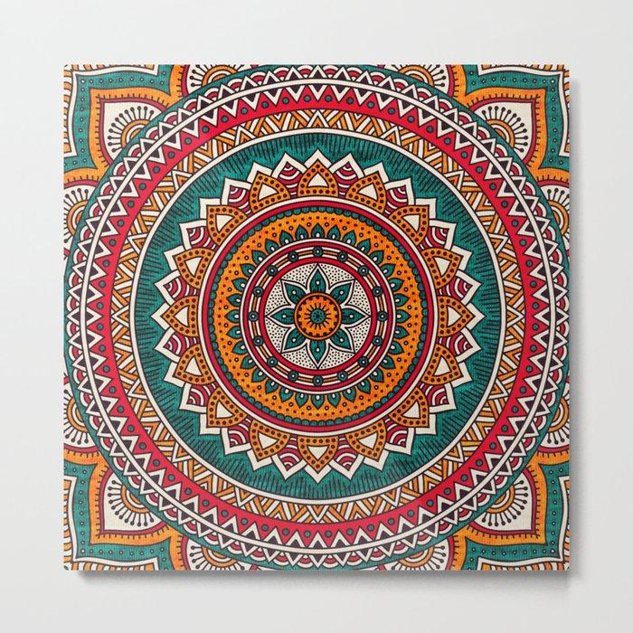 Hippie Mandala 9 Metal Print