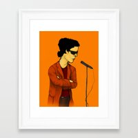 lou reed Framed Art Prints featuring Lou Reed by Nick Gibney