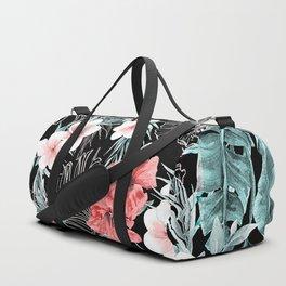 Black & Rose Gold Pink Island Paradise Duffle Bag