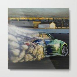 Drifting Car III Metal Print