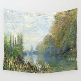 The Banks of The Seine in Autumn by Claude Monet Wall Tapestry