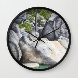 Tree in the Boulders Wall Clock