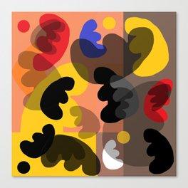 round vibrations Canvas Print