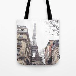 Paris streets, Eiffel tower, city skyline, industrial fine art photo, shabby chic Tote Bag
