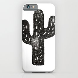 Stamped Cactus iPhone Case