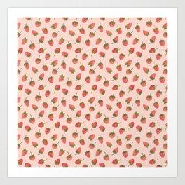 Sweet & Juicy Strawberries Art Print