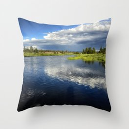 Madison River - Montana Throw Pillow