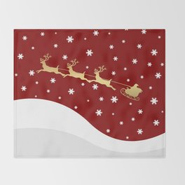 Red Christmas Santa Claus Throw Blanket