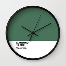MANTONE® Wage Gap Wall Clock