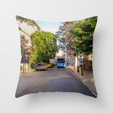 BUS IN BUDAPEST Throw Pillow
