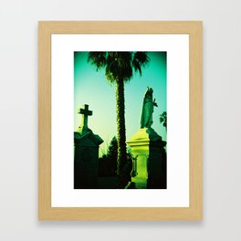 Mary Under the Palm Tree Framed Art Print